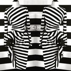 Nicci Hou Collection Stripe Asymmetrical Ruffle Dress