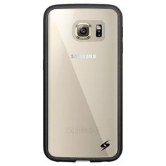 SAMSUNG GALAXY S6 EDGE CASE - SLIMGRIP HYBRID TPU BUMPER CLEAR BACK COVER #AMZER