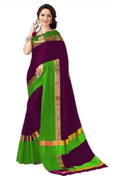 Solid Designer Zari Work Cotton Silk Sarees from Stf Store Cotton Blouses, Cotton Saree, Cotton Silk, Cotton Fabric, Party Wear Sarees Online, Sari Design, Plain Saree, Ethnic Sarees, Indian Sarees Online