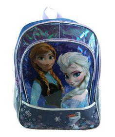 Look what I found on #zulily! Indigo Frozen 16'' Foil Backpack by Frozen #zulilyfinds