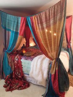 "Boho Bed Canopy Gypsy Hippie Hippy HippieWild by HippieWild Use couponcode ""PINME"" for 40% off all hammocks on our site maderaoutdoor.com"