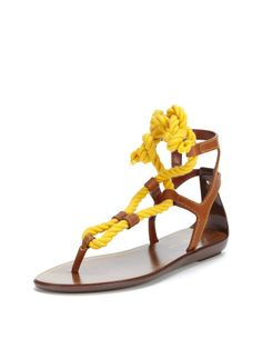 Rope Thong Sandal by Sergio Rossi at Gilt