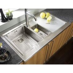Astracast DE15XBHOMEPKL Bistro 1.5 Bowl Left Hand Drainer Stainless Steel Sink with Accessories £449 620mm front to back