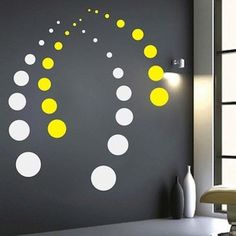 Contemporary Dots Wall Decals, modern home decals, unique wall sticker, cool wall mural decals, cont Modern Wall Decals, Wall Mural Decals, Wall Sticker, Wall Painting Decor, Wall Decor, Striped Walls, Geometric Wall, Interior Walls, Luxury Interior