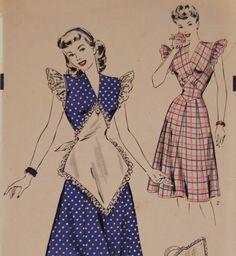 Vintage 1947 Hollywood Misses' Women's Dress by NostalgiaVintage2, $18.00    Adorable!!!