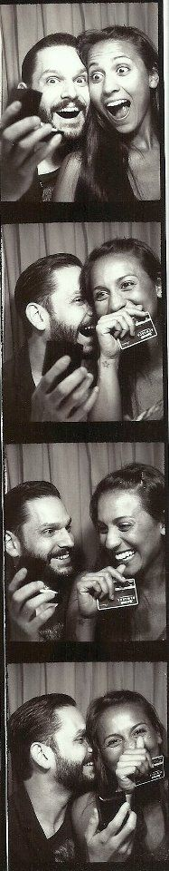 photobooth proposal. such a cute way to capture the moment in privacy.