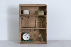 vintage industrial large wooden crate/shelf on Etsy, £27.40