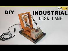 DIY | Architect Vintage Industrial Desk Lamp - YouTube Industrial Desk, Vintage Industrial, Desk Lamp, Bookends, Youtube, Design, Industrial Table, Design Comics
