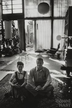 """Charles & Ray Eames. Charles Ormond Eames, Jr and Bernice Alexandra """"Ray"""" (née Kaiser) Eames were American designers most famous for their collaborative furniture and architectural designs. They met at the Cranbrook Academy of Art in 1940 and were married the next year."""