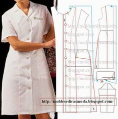 Mod@ en Line Diy Clothing, Sewing Clothes, Clothing Patterns, Dress Patterns, Sewing Lessons, Sewing Hacks, Sewing Tutorials, Easy Sewing Patterns, Vintage Sewing Patterns