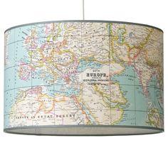 Hanglamp 40cm Landkaart? De leukste Hanglampen voor de kinderkamer bij Saartje Prum.