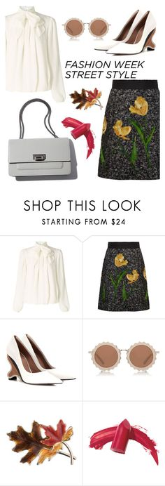 """NYFW Street Style"" by nurmachan ❤ liked on Polyvore featuring Somerset by Alice Temperley, Dolce&Gabbana, Marni, House of Holland, Anne Klein, Elizabeth Arden, StreetStyle, NYFW, Fall and fashionWeek"
