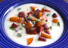 Sellerirotsuppe med stekt eple og chorizo / celeriac soup with fried apple and chorizo #suppe #sellerirot #knollselleri