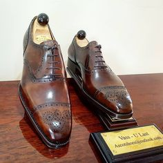 Ascot Shoes — Our new Walnut Museum calf Made-to-Order for our...
