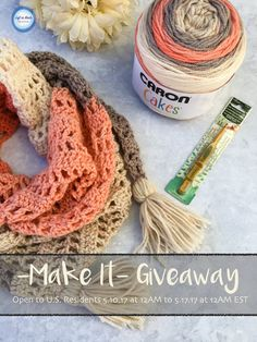 """Enter the May """"Make It"""" giveaway for your chance to win yarn, a hook and a free PDF pattern! All you need to enter is an email address :)"""