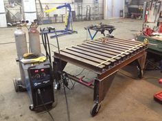 If you can't have a welding table of 6 inch thick cast iron, how about a bunch of I beams?  Sorry, its a table - WeldingWeb™ - Welding forum for pros and enthusiasts