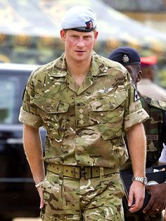 A Prince AND a man in uniform.. Harry, you may be the perfect man.