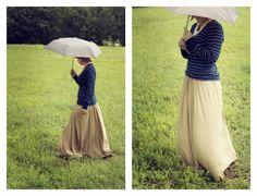DIY jersey knit skirt {a tutorial} - Love Stitched