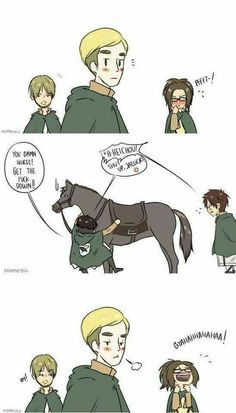 Image discovered by グール ❊. Find images and videos about anime, attack on titan and shingeki no kyojin on We Heart It - the app to get lost in what you love. Attack On Titan Comic, Attack On Titan Ships, Attack On Titan Fanart, Aot Funny, Funny Comics, Funny Memes, Aot Memes, 5 Anime, Fanarts Anime