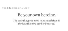 Be your own heroine!!