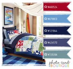 Cool Colors Palette · 8.16.2011  Another boy's room