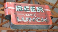 Beer and Lunch sign