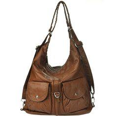 Ampere Creations Vegan Leather Cross Body Convertible Handbag BackPack | Rad Hippie