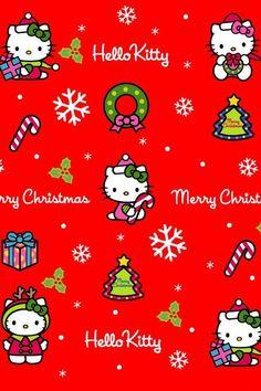 Xmas Wallpapero Kitty Wallpaper Iphone Wallpaper Wallpaper Backgrounds Christmas Greetings Merry Christmas Christmas Timeo Kitty Christmas