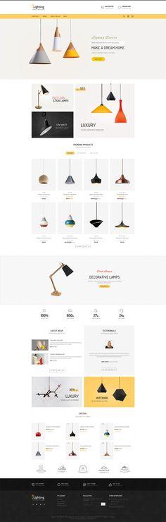 #Lighting #Modern #Responsive #Prestashop - Web Design - #TemplateTrip