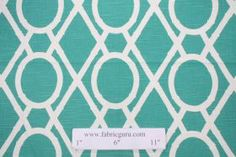 1.5 Yards Robert Allen Lattice Bamboo Drapery Fabric in Pool - Fabric Guru.com