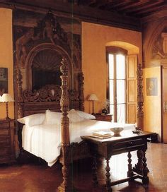 From historical times, Italian bedrooms have been known for their comfort and elegance. The bed or letto, dominated the room, which was as much a symbol of matrimony as it was of repose.