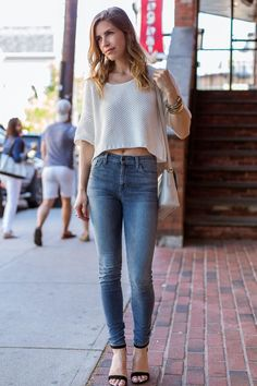"Top: Urban Outfitters, Similar | Jeans: Joe's | Shoes: LC by Lauren Conrad for Kohl's, Similar | Bag: Marc by Marc Jacobs (sold out), Similar | Lipstick: ModelCo Party Proof in ""Kitty"""