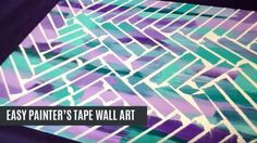 Unbelievably Easy Painter's Tape Wall Art | DIY Joy Projects and Crafts Ideas