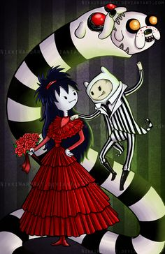 Mathematical! ❤️ Adventurejuice! Adventure Time Beetlejuice Mashup. Scroll down for more AT mashups- Kill Bill, Nightmare Before Christmas!