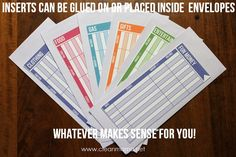 Budget Envelopes via Clean Mama - I love envelopes for non-bill money management.