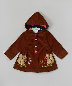 Love this Brown Squirrel Appliqué Hooded Jacket - Toddler & Girls on #zulily! #zulilyfinds