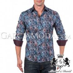 Camisa Michael & David Luxury Menswear MD-735-Multi