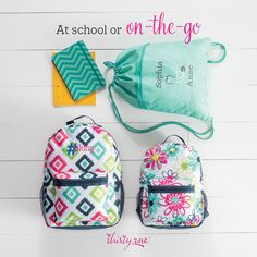 Thirty-One Going my Way Backpack, Cinch Sac