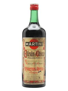 Martini Elixir China / Bot.1960s  An old litre bottling of Elixir di China from Martini & Rossi, not named after the country, but after Cinchona bark, one of the ingredients and a source of quinine, essential in the fight against malaria. We estimate this was bottled in the 1960s.