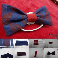 how to make a bow tie tutorial