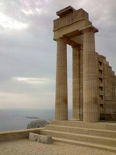 Doric Temple of  Athena Lindia in Lindos, Greece