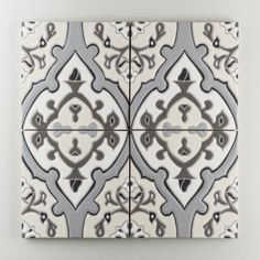 The Mediterranean Handpainted Collection: Zuma in the Neutral Motif. Right from the shores of sunny California this heritage pattern is the definition of the California Revival style. Zuma brings tons of historical gravitas to every installation, large or small. Available in a 8x8 size. $40/piece.