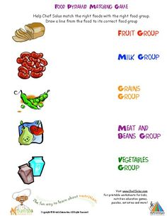 Printable activities and worksheets about nutrition and the five food groups. Go to the site! CUTE