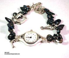 Womens Watch, Ladies Watch, Watches for Women, Beaded Watch, Handmade Watch, Waterproof Watch - #penquinluv