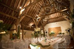 Pangdean Barn wedding breakfast area