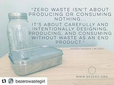 """So true!! Thank you @bezerowastegirl The term zero waste originally wasn't intended to be implemented as a lifestyle trend of sorts - it's actually an industrial term which refers to a circular economy - where we design manufacture consume and recover in a circular fashion without waste as an end product. .  Zero waste doesnt exist yet. . Our current infrastructure is linear which means we design for the dump. We tend to take the """"zero waste"""" term as though it's all in or nothing...as though…"""