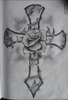 Rose with cross