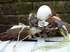Flower Art Images, Diy Ostern, Easter Wreaths, Easter Baskets, Easter Crafts, Spring Flowers, Grapevine Wreath, Flower Arrangements, Floral Design