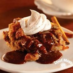 Cinnamon Bread Pudding with Caramel Coffee Sauce from Eagle Brand ...