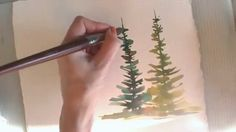 Paint evergreen or deciduous trees in watercolor - two quick tutorials to show you how with artist Angela Fehr. Tips for colors to use, blending, shadows and...